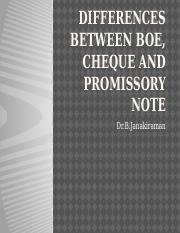 Differences between BOE, cheque and promissory note.pptx
