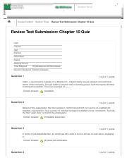 MGT 424-202 Chapter 10 Quiz