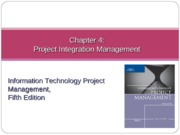 Chapter 04 Project Integration Management