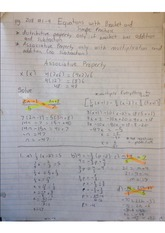 Equations with brackets and simple fractions
