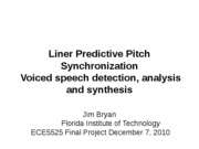 Liner Predictive Pitch Synchronization