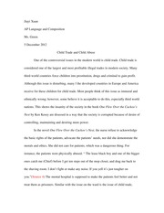 Synthesis Essay-Child Abuse and Child Trade