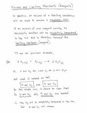 Excess & Limiting Reactants