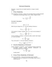 Lecture 3 Notes, Demand Elasticity