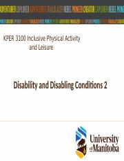 Jan 23 Disability and Disabling Conditions 2.pptx