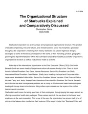 XMGT-230 Week 6 Organizational Structure Paper
