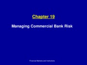 Ch19_Managing Commercial Bank Risk