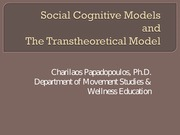 KINS 384 Lecture Theories+_+Models+in+Health+Promotion