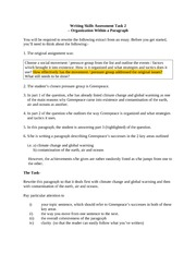 writing skills assessment task2