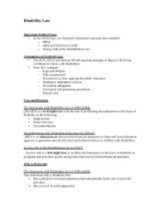 Disability Law Notes 1