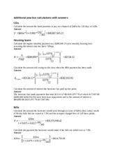 Additional practice calculation questions with answers_1
