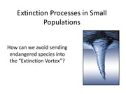 25. Extinction Processes in Small Populations