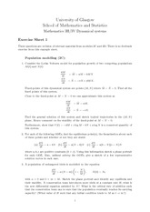 Exercise Sheet Problem Set 1