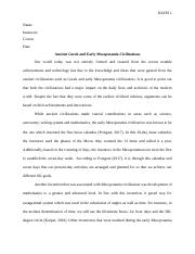 Argumentative Essay on Greek and Mesopotamia Civilizations.docx