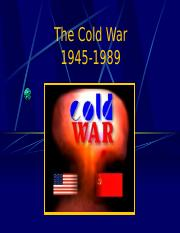Unit 6 The Cold War intro.ppt