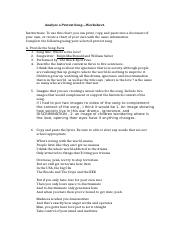 Analyze a Protest Song—Worksheet