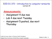 Lecture 15 on Computer Networks