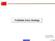 Profitable Entry Strategy