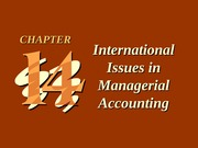 ch14 International Issues in Managerial Accounting