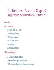 CH 353 Fall 2016 First Law 1