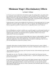 Copy of Minimum Wage's Discriminatory Effects  tiantian.docx