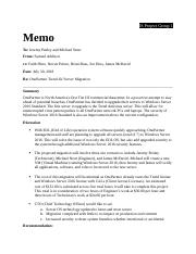 IS 1- Project Memo - Server.docx