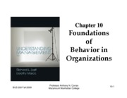 Chapter 10 Understanding Management 6e ANC Fall 2009 handout