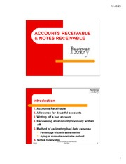 Accounts Receivable and Notes Receivable-1