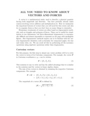 A_VECTORS AND FORCES