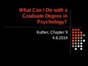 what can i do with a graduate degree in psychology