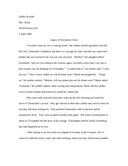 Legacy of Europeans Essay