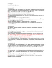 Bio151 Sp15 Exam 1 Practice Questions Answer Key
