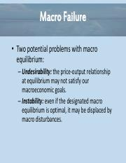 Essential of Economics Chapter 11 - Macro Failure Powerpoint