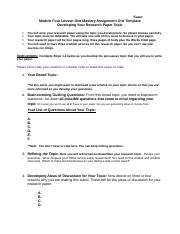 Module Four Lesson One Mastery Assignment Template (1).doc