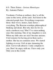 6.0 - Dramatic Monologue - Three Sisters.docx