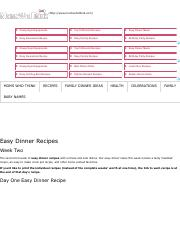 Easy Dinner Recipes Week Two - Moms Who Think.pdf