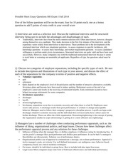 Human Resources Study Guide HR Legislation