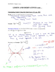 Calculus-Introductory(lecture notes, assginmet, exam review etc)