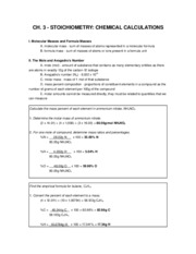 16472_ch.3 - stoichiometry - chemical calculations