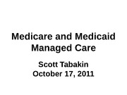 24. Medicare and Medicaid