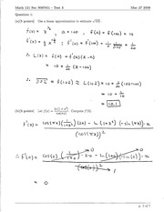 Math 121 Test 3 Solutions