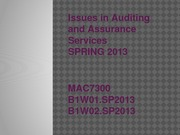 Wk2_Issues in Auditing and Assurance Services