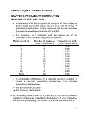 1773 Chapter 4 Probability Distribution