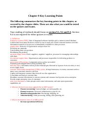 CIS3390_Chapter09_Key Learning Points
