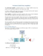Power Amplifiers.docx