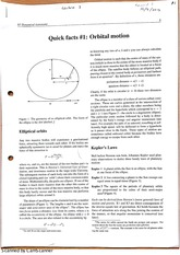 Dynamical Astronomy Orbital motions Class Notes