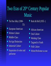 Two_Eras_of_20th_Century_Popular_Music.ppt