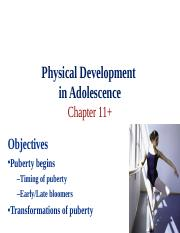 Ch 11 Physical Development in Adolescence.ppt