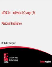 MOIC L4 Personal Resilience (2016-17)