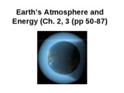 Lecture 4-Earths atmosphere and energy